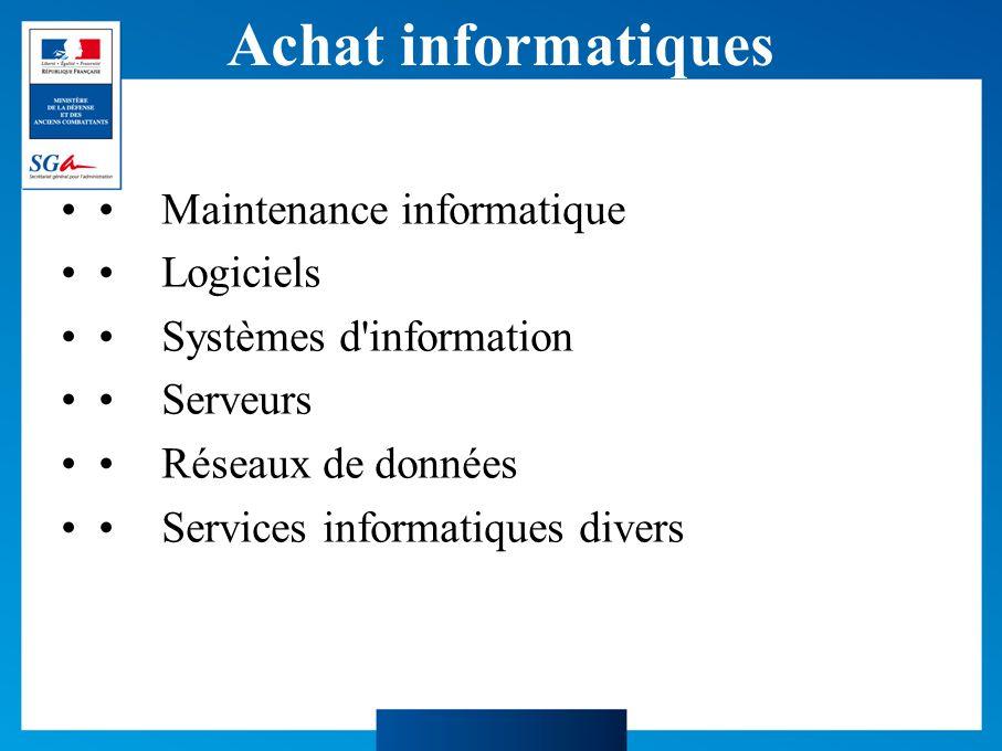 Achat informatiques • Maintenance informatique • Logiciels