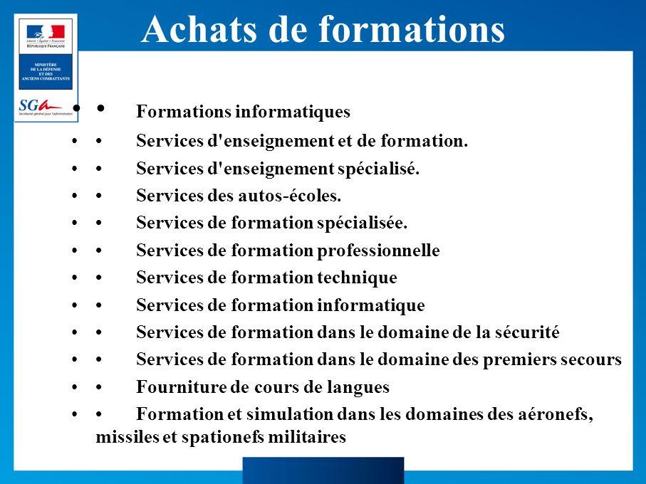 Achats de formations • Formations informatiques