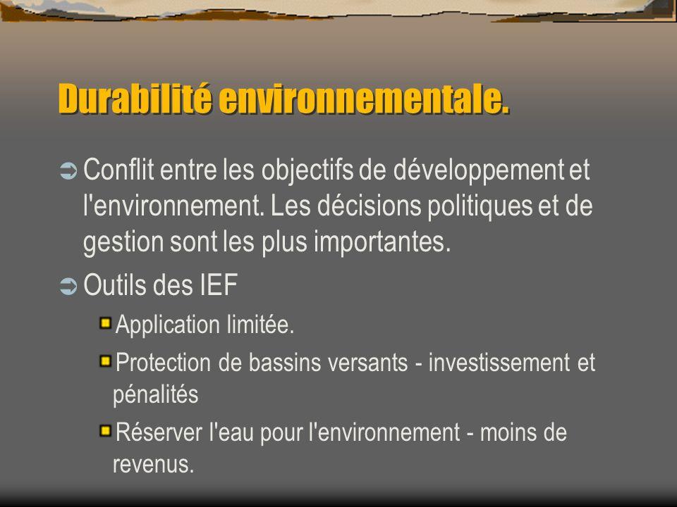Durabilité environnementale.