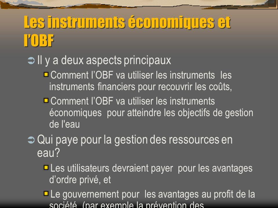 Les instruments économiques et l'OBF