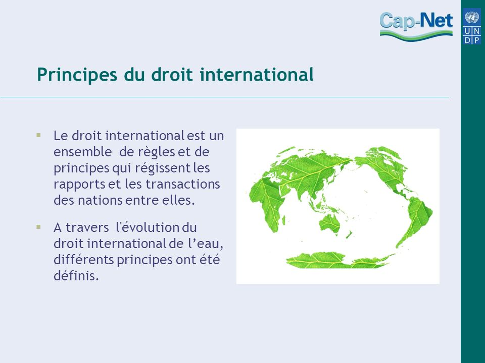 Principes du droit international