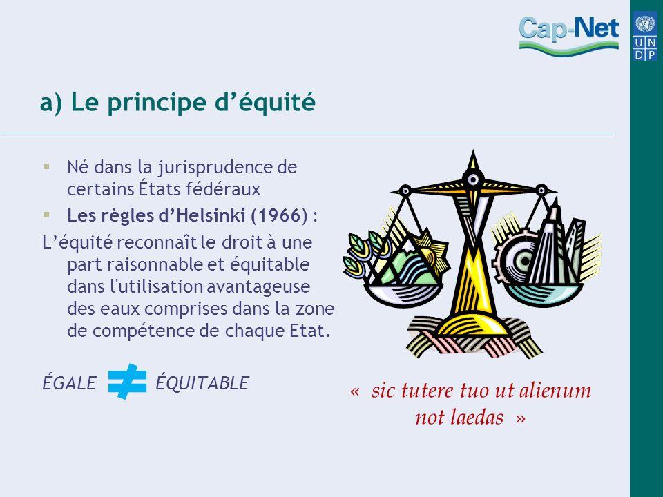 a) Le principe d'équité