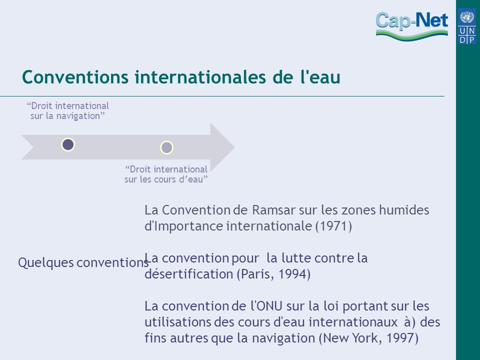 Conventions internationales de l eau