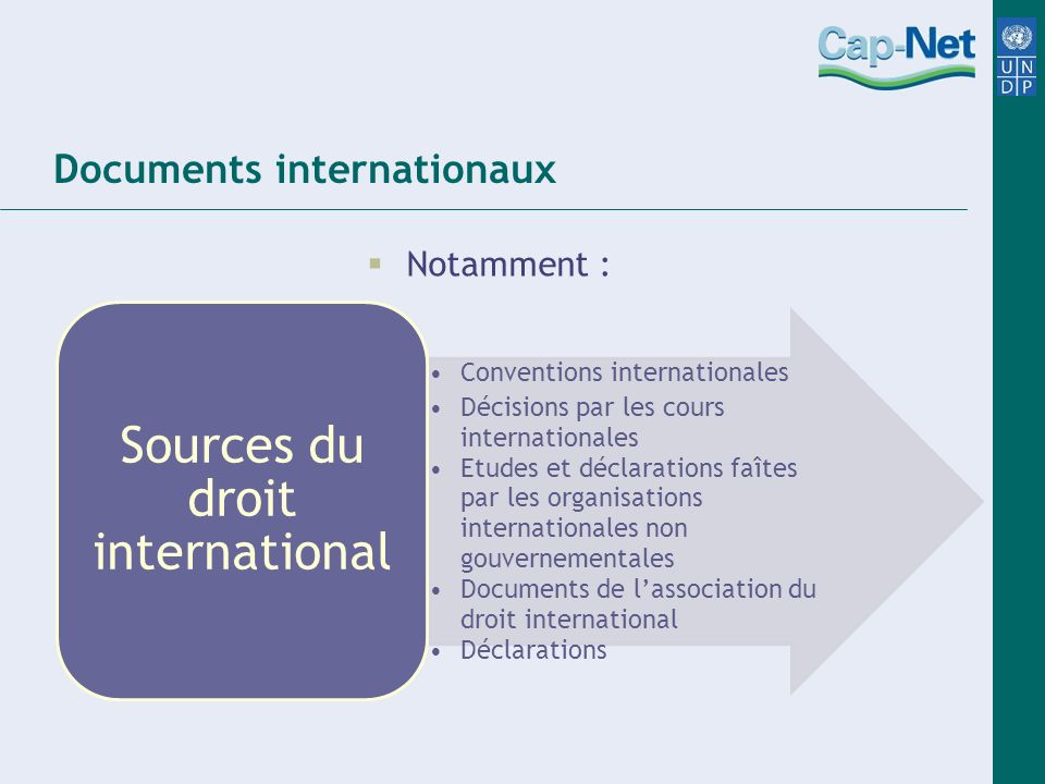 Documents internationaux