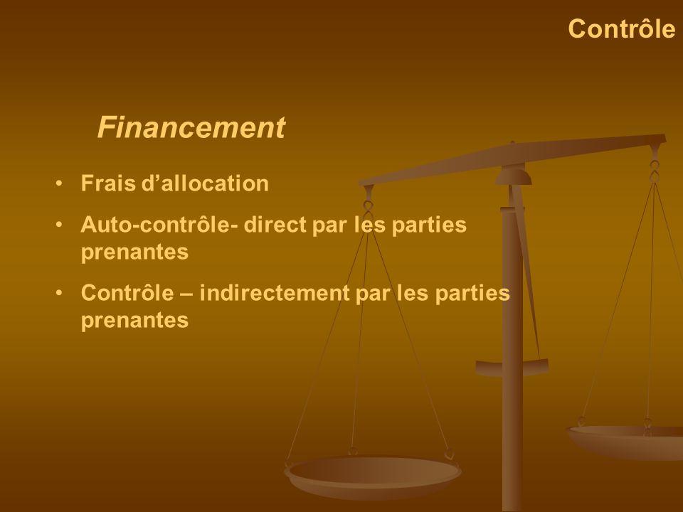 Financement Contrôle Frais d'allocation