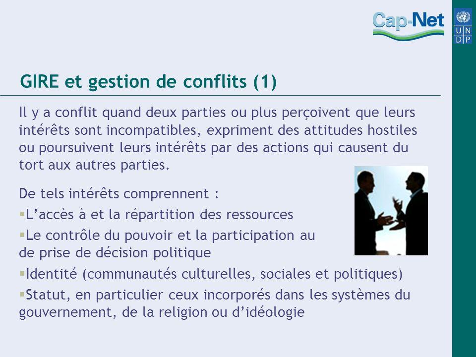 GIRE et gestion de conflits (1)