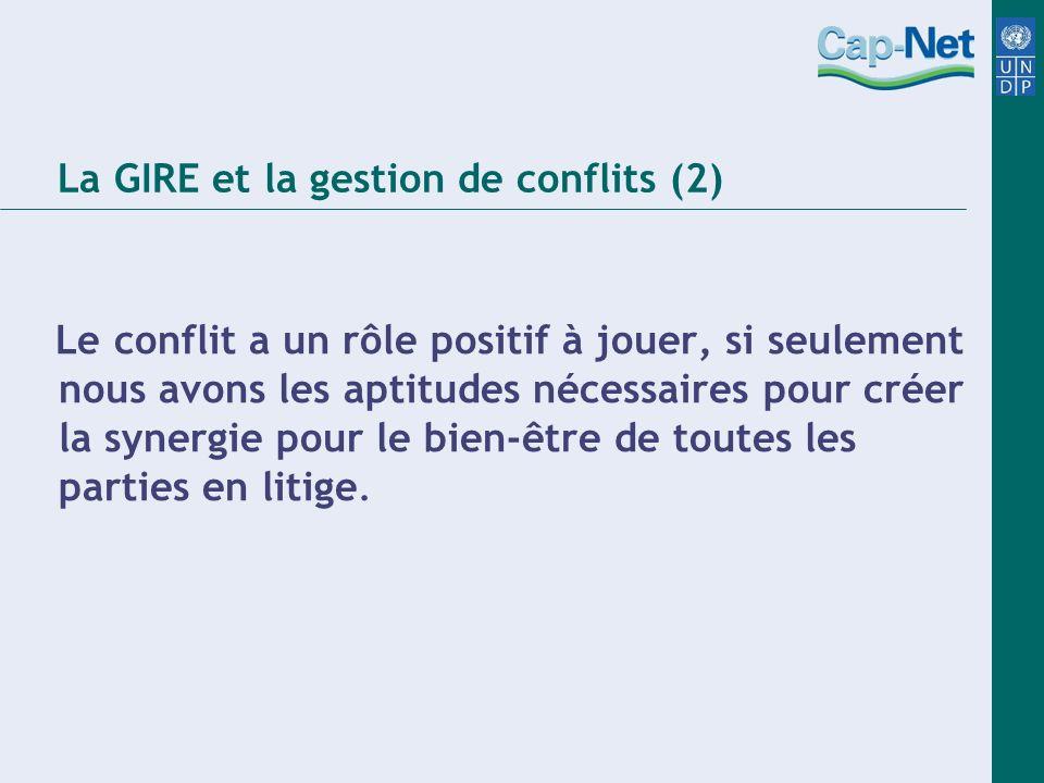 La GIRE et la gestion de conflits (2)