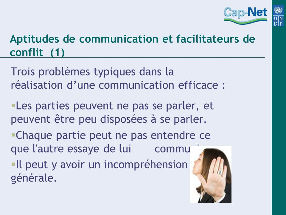 Aptitudes de communication et facilitateurs de conflit (1)