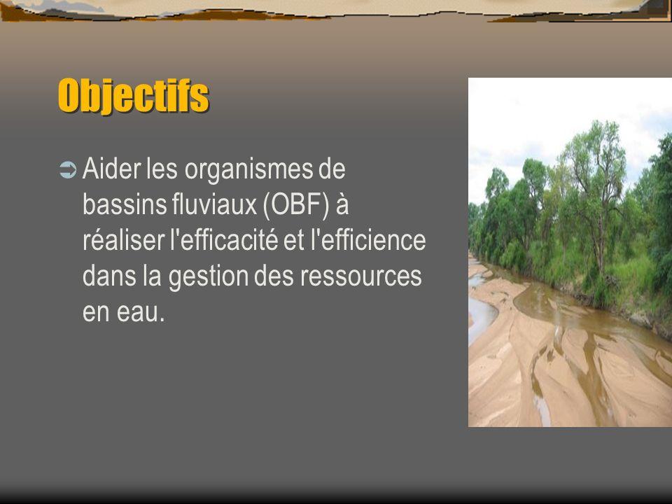 Objectifs Aider les organismes de bassins fluviaux (OBF) à réaliser l efficacité et l efficience dans la gestion des ressources en eau.