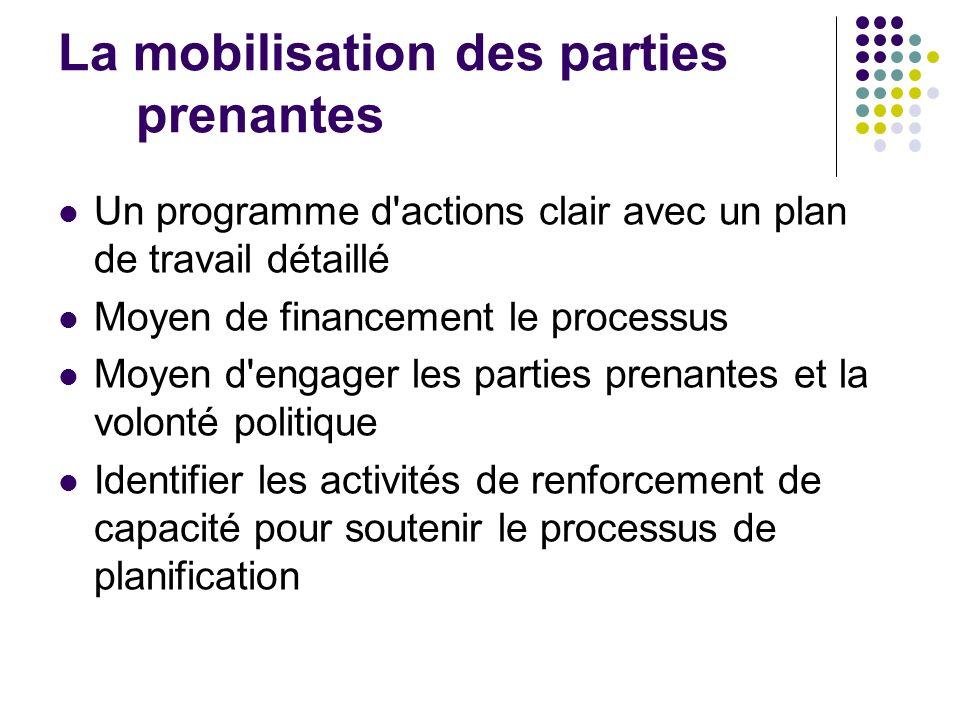 La mobilisation des parties prenantes