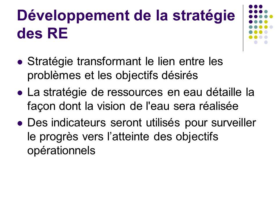 Développement de la stratégie des RE
