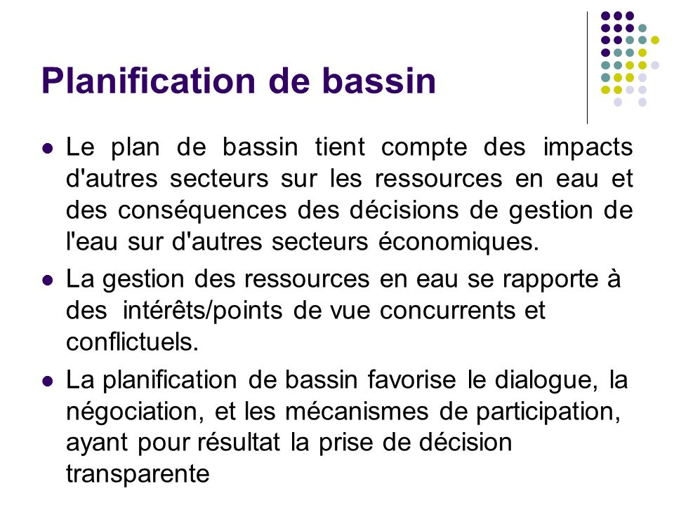 Planification de bassin