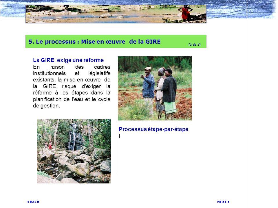 5. Le processus : Mise en œuvre de la GIRE