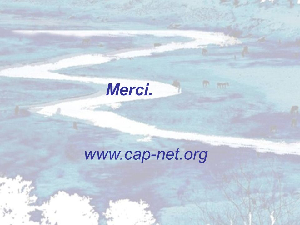 Merci. www.cap-net.org