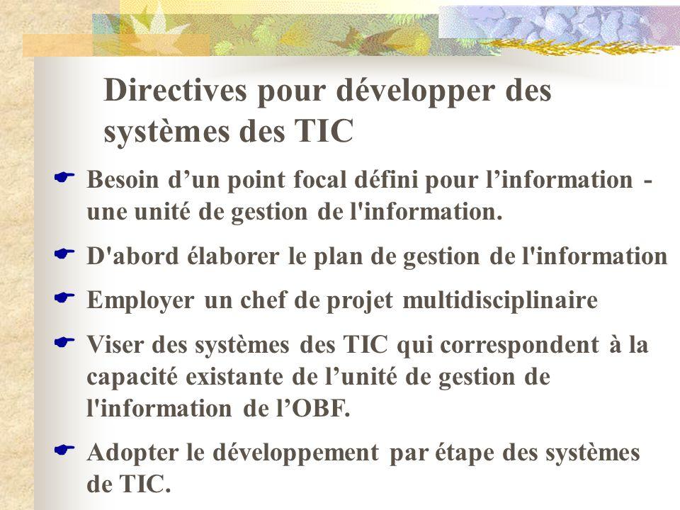 Directives pour développer des systèmes des TIC