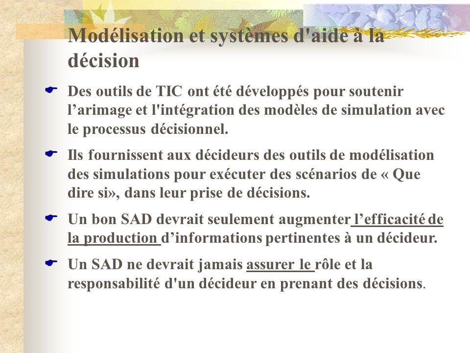 Modélisation et systèmes d aide à la décision