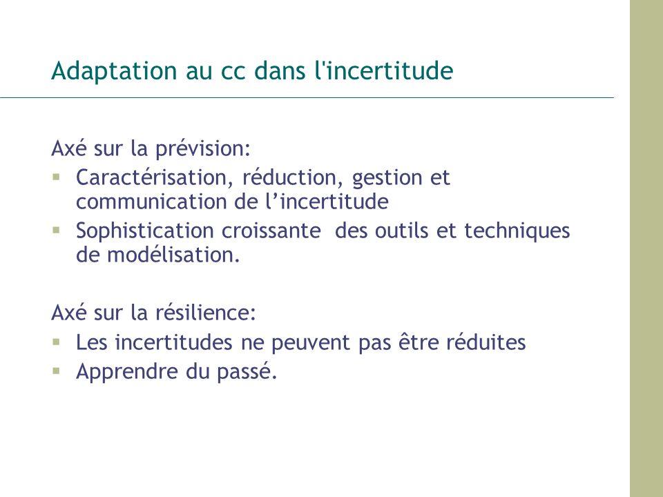 Adaptation au cc dans l incertitude