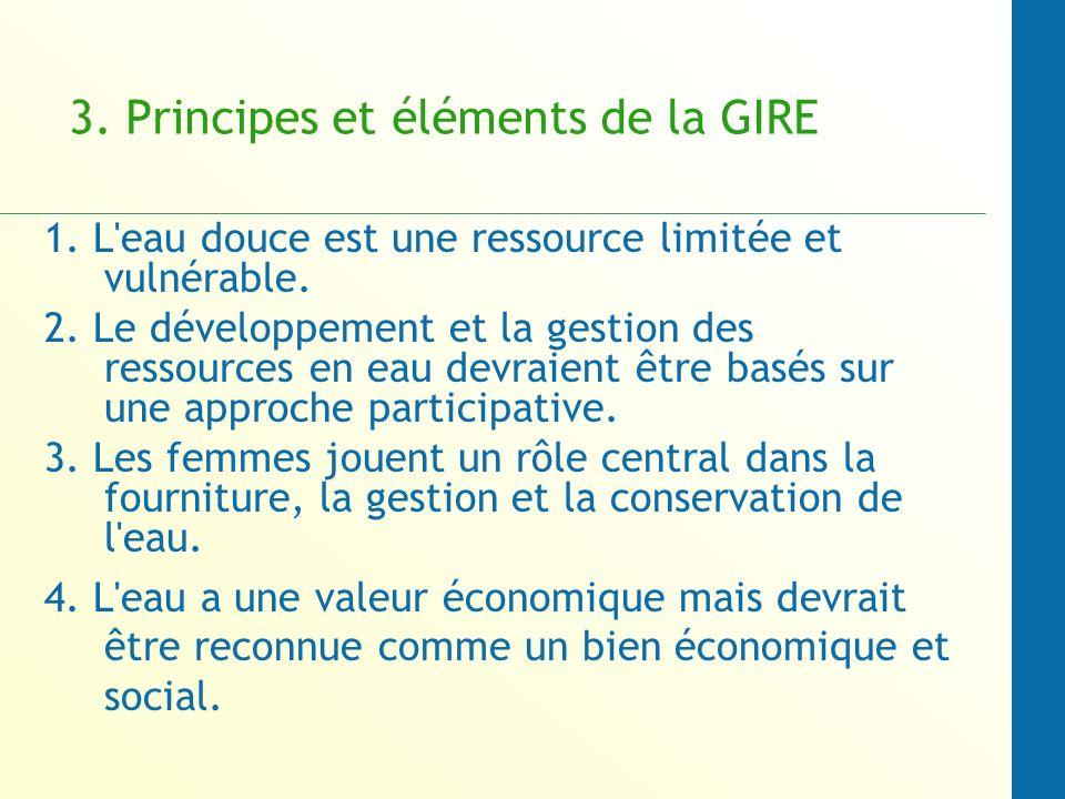 3. Principes et éléments de la GIRE