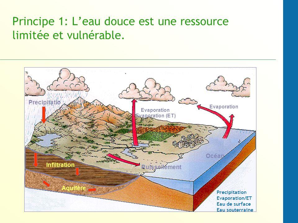 Principe 1: L'eau douce est une ressource limitée et vulnérable.