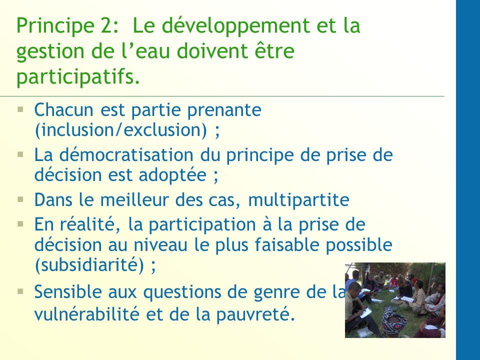 Principe 2: Le développement et la gestion de l'eau doivent être participatifs.