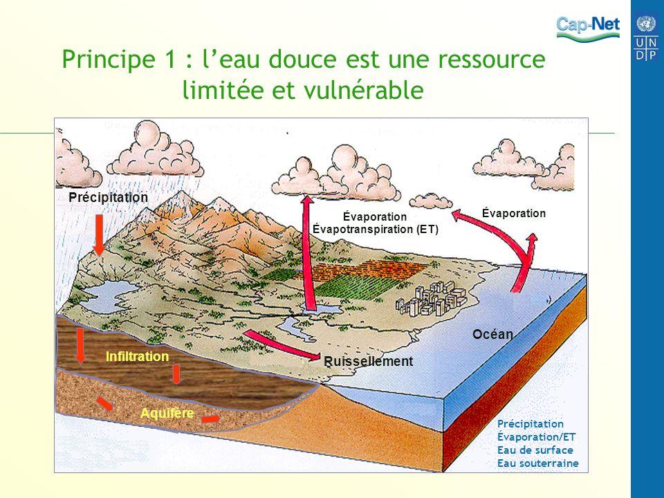 Principe 1 : l'eau douce est une ressource limitée et vulnérable