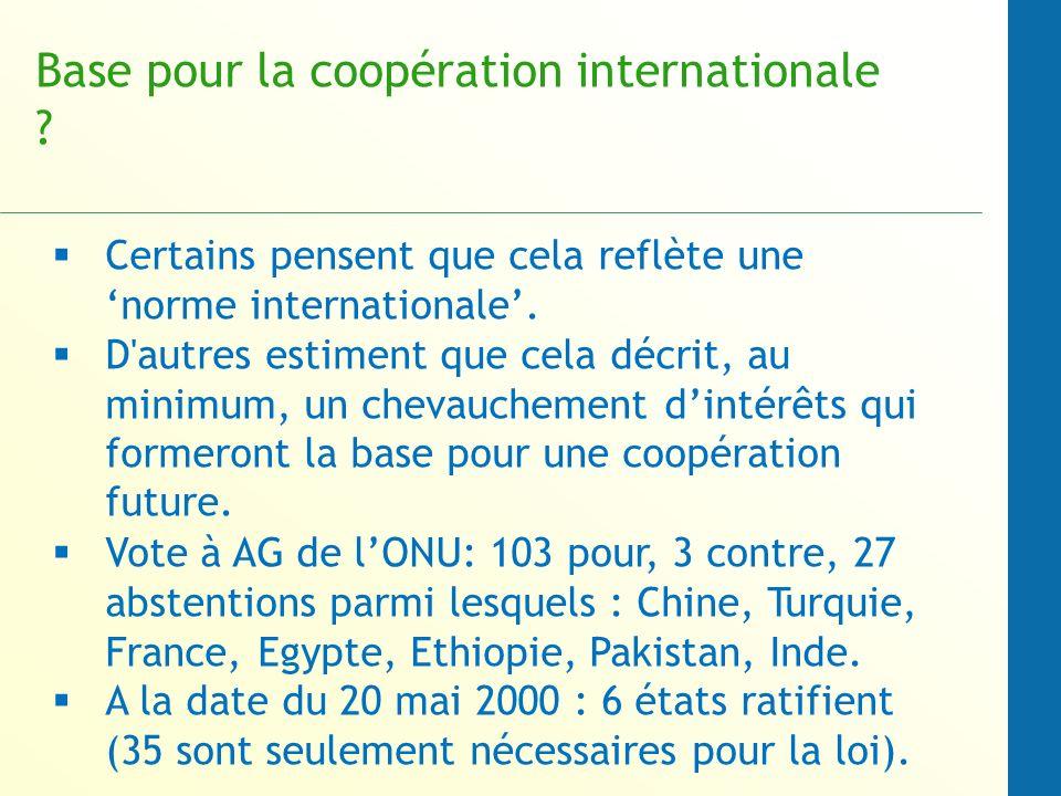 Base pour la coopération internationale
