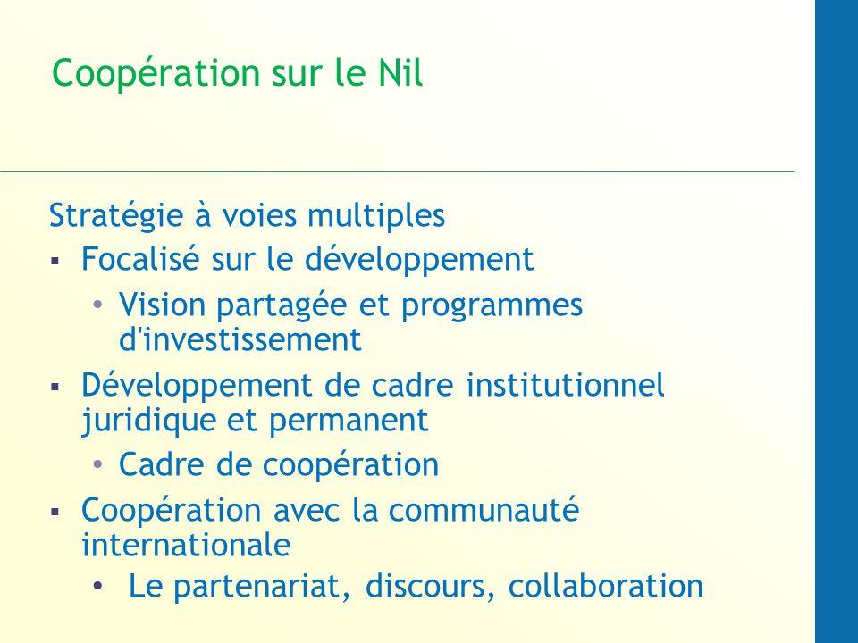 Coopération sur le Nil Stratégie à voies multiples