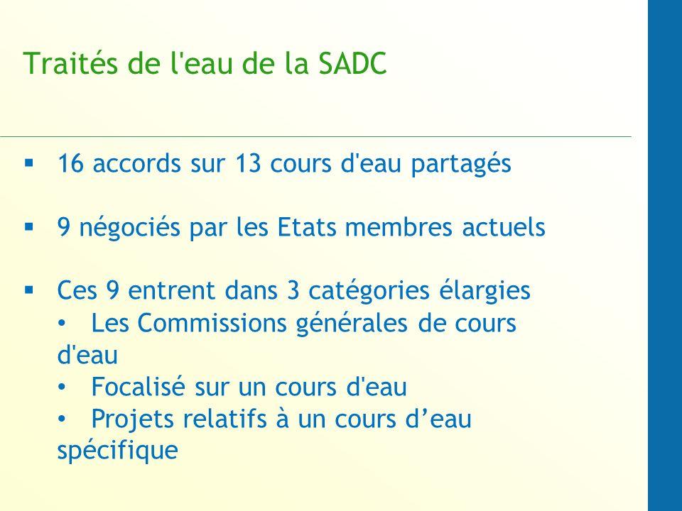 Traités de l eau de la SADC