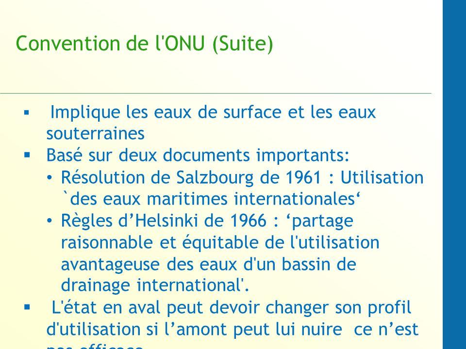 Convention de l ONU (Suite)