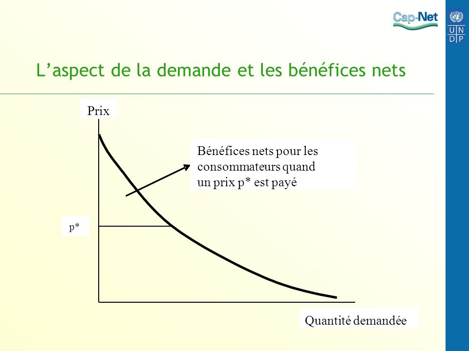 L'aspect de la demande et les bénéfices nets