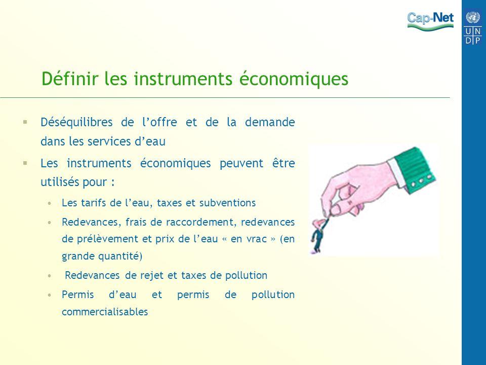 Définir les instruments économiques