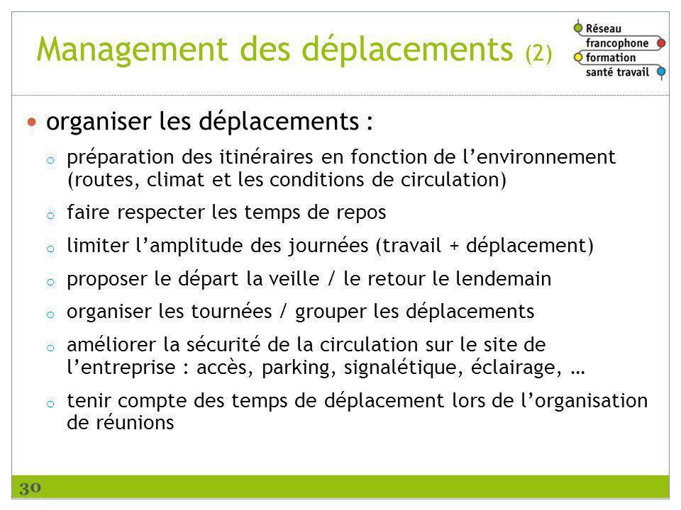 Management des déplacements (2)