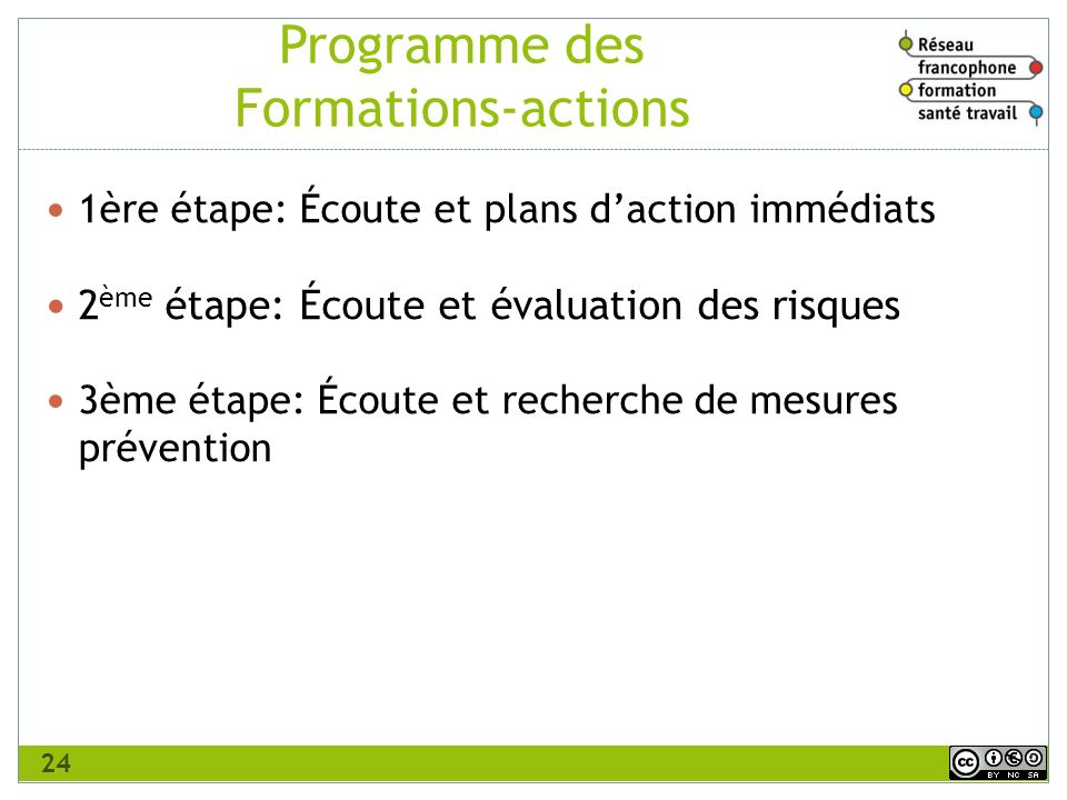 Programme des Formations-actions