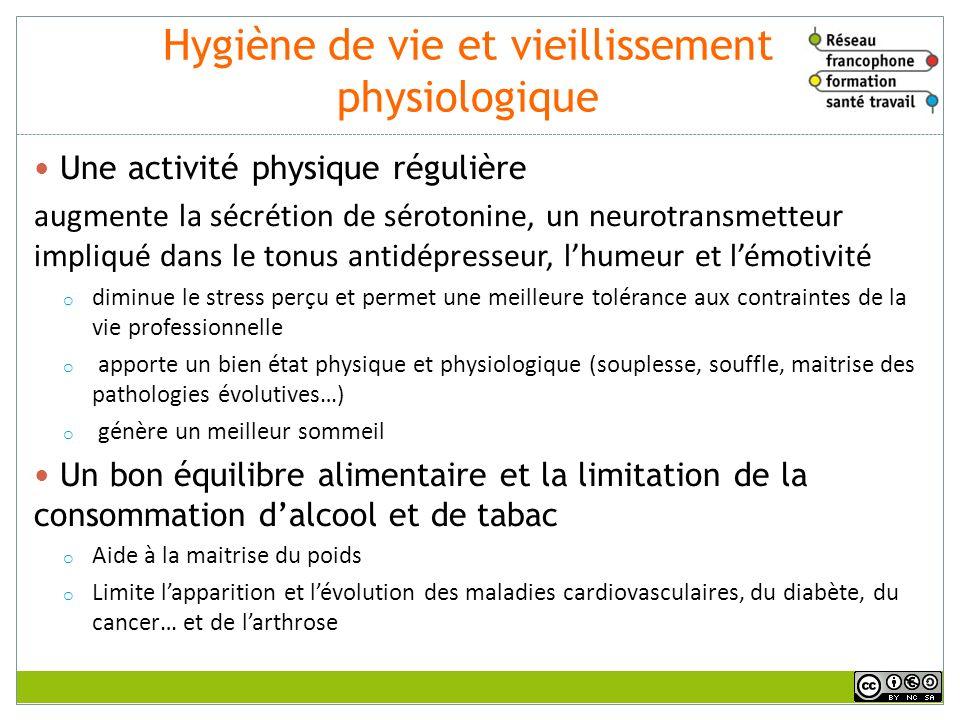 Hygiène de vie et vieillissement physiologique