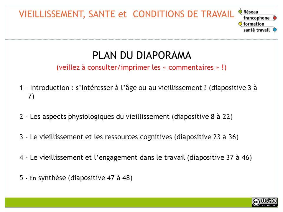 VIEILLISSEMENT, SANTE et CONDITIONS DE TRAVAIL