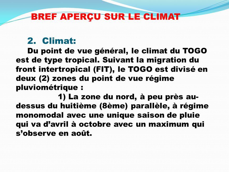 BREF APERÇU SUR LE CLIMAT