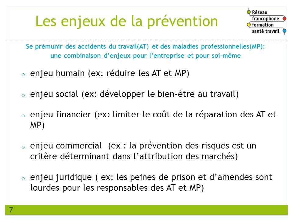 Les enjeux de la prévention