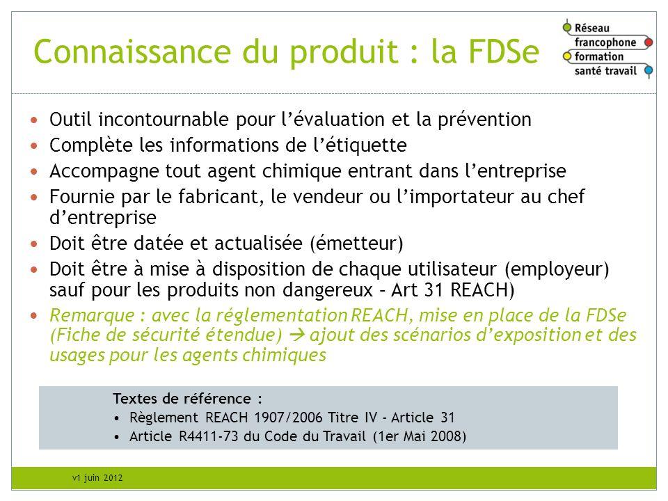 Connaissance du produit : la FDSe
