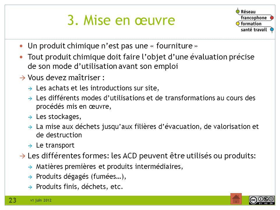3. Mise en œuvre Un produit chimique n'est pas une « fourniture »