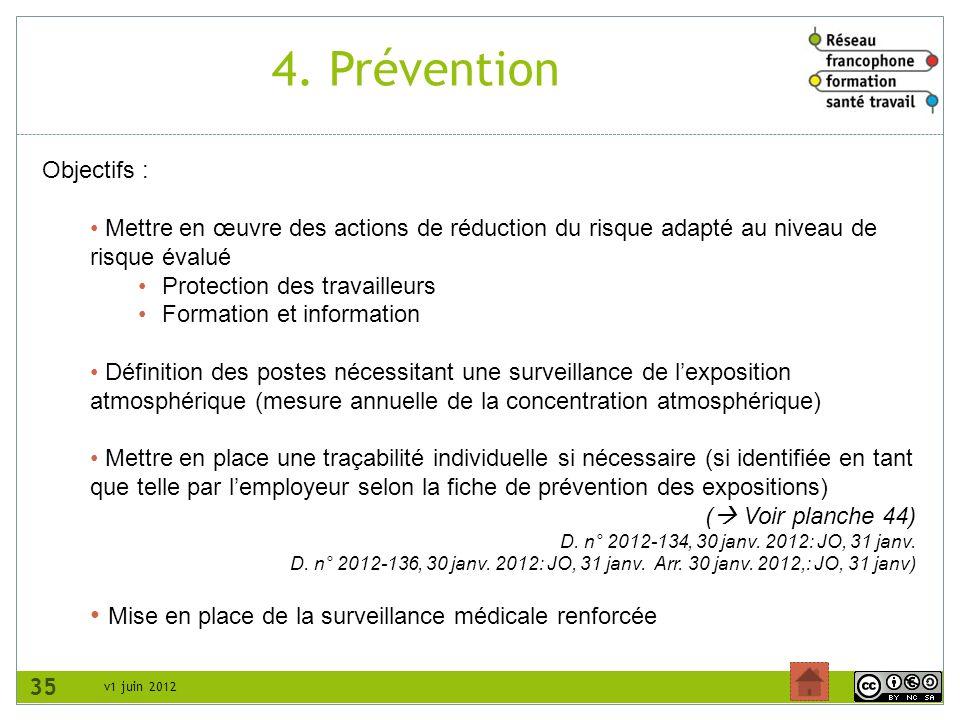 4. Prévention Mise en place de la surveillance médicale renforcée