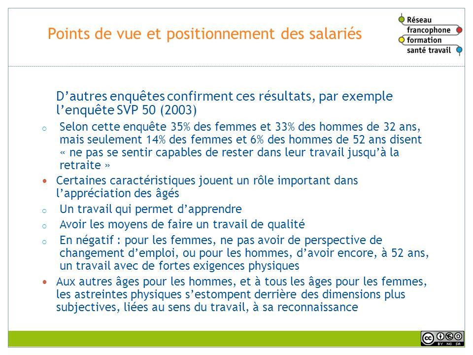 Points de vue et positionnement des salariés