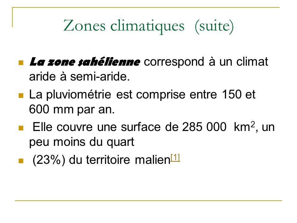 Zones climatiques (suite)