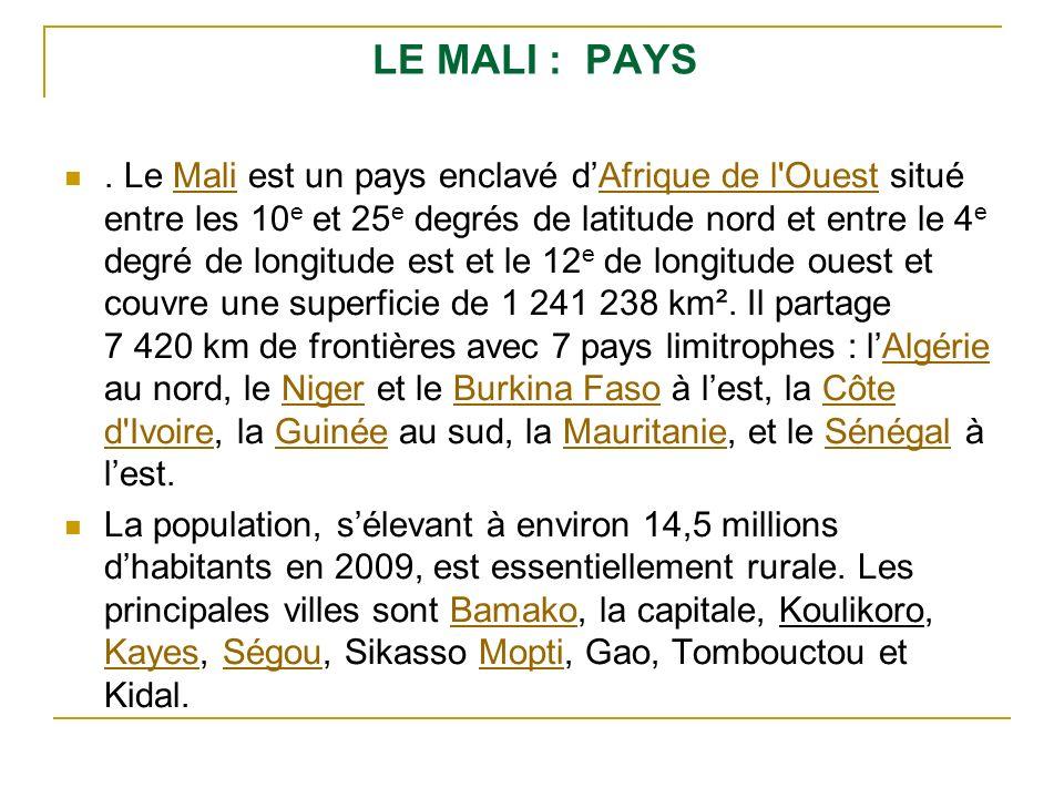 LE MALI : PAYS