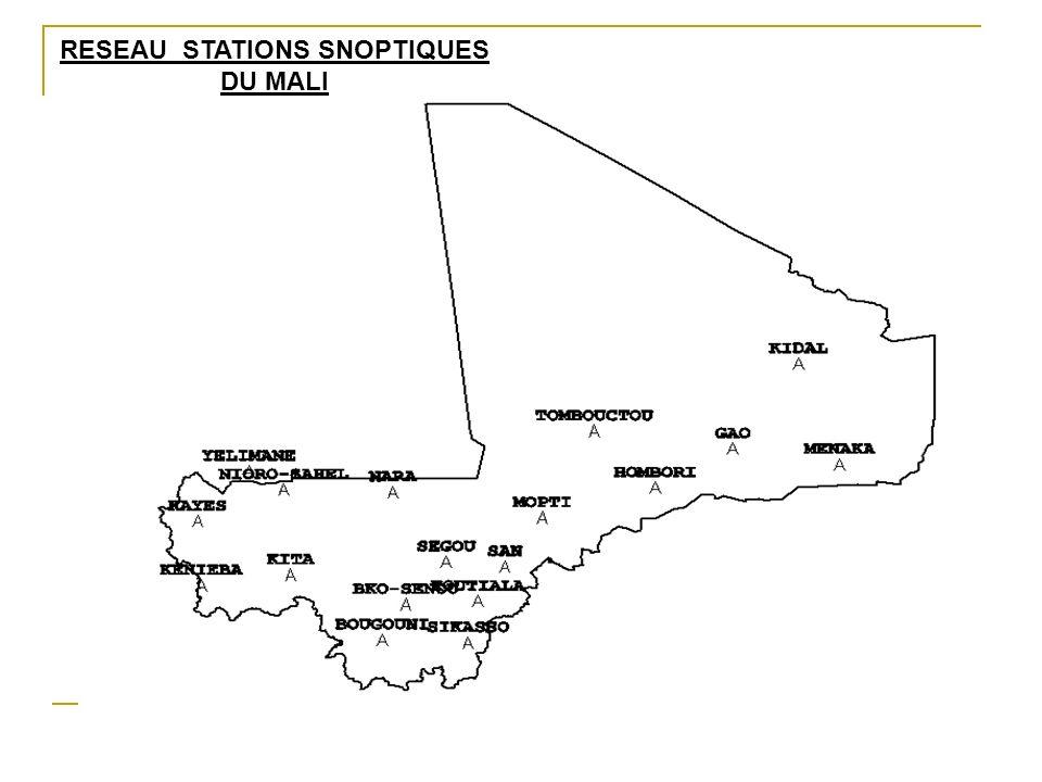 RESEAU STATIONS SNOPTIQUES DU MALI