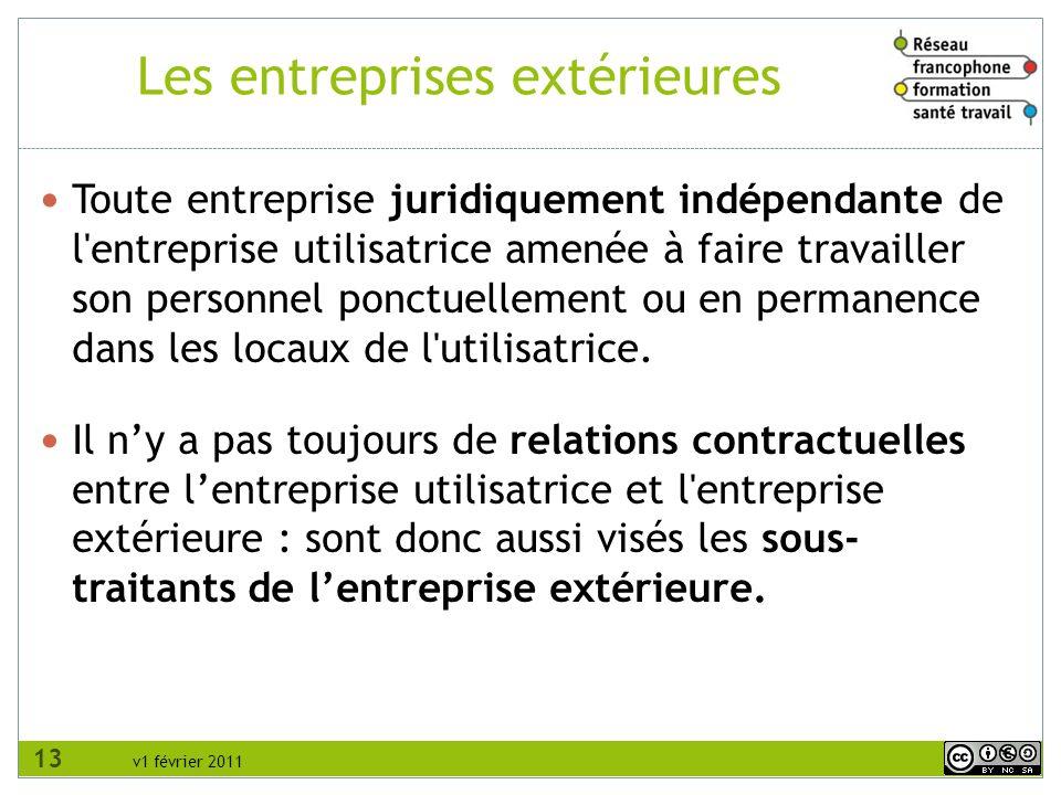 Les entreprises extérieures