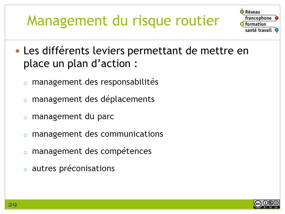 Management du risque routier