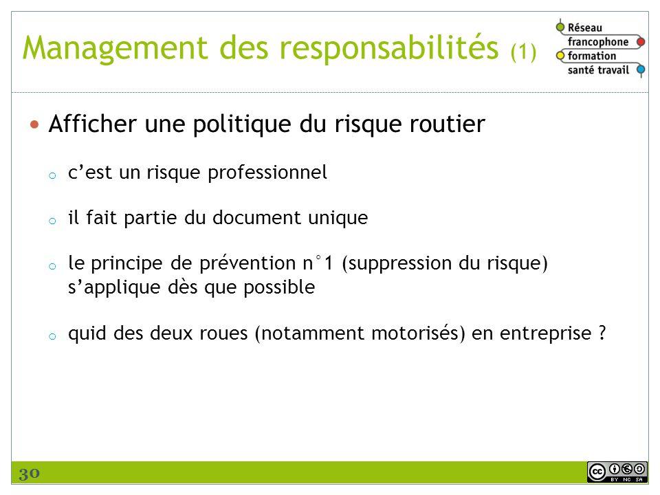 Management des responsabilités (1)