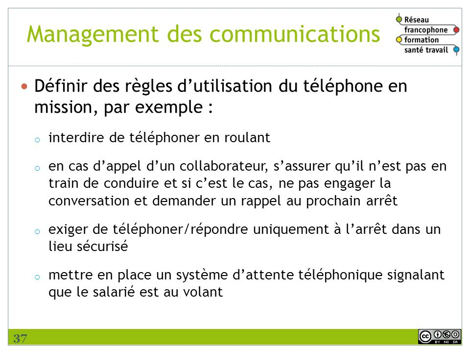 Management des communications