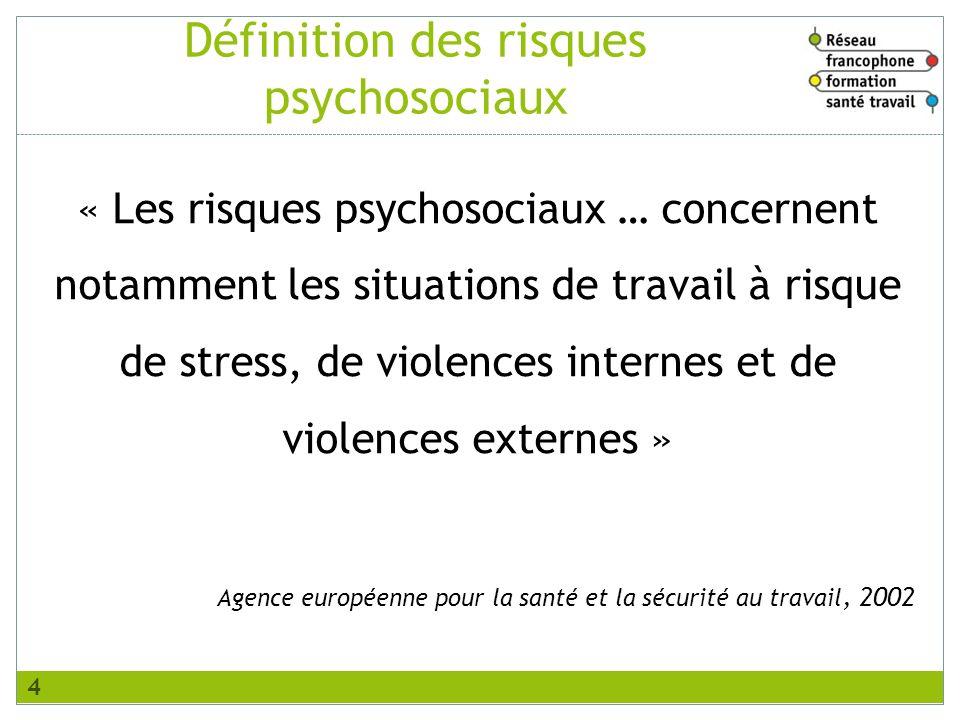 Définition des risques psychosociaux