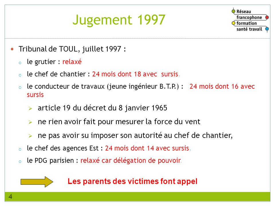 Les parents des victimes font appel